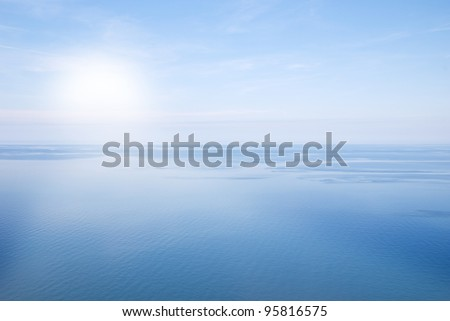 simply landscape with sea and sky