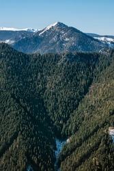 Sina hill, Low Tatras mountains, Slovak republic. Hiking theme. Seasonal natural scene.