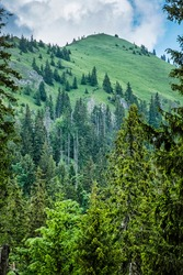 Sina peak, Demanovska valley, Low Tatras mountains, Slovak republic. Hiking theme. Seasonal natural scene.