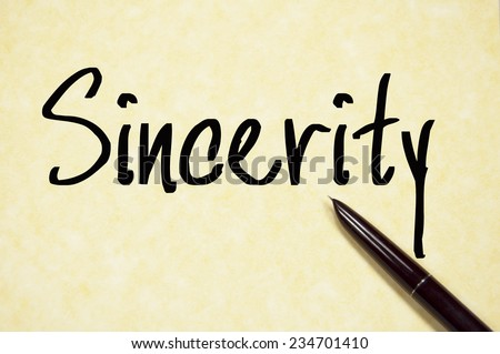 Sincerity Essay