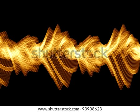 Sine waves background suitable for audio, music and science related projects