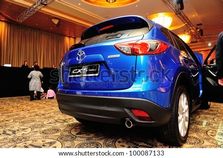 SINGAPORE - APRIL 13: Rear of new Mazda CX-5 at its launch event April 13, 2012 in Singapore