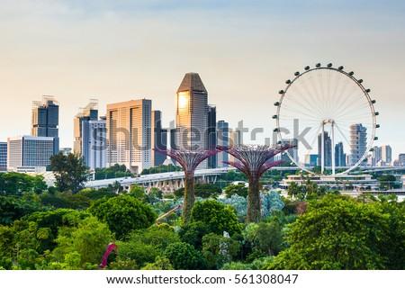 Singapore beautiful cityview from OCBC Skyway