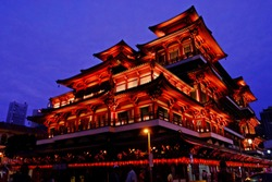Singapore Buddha Temple in blue hour