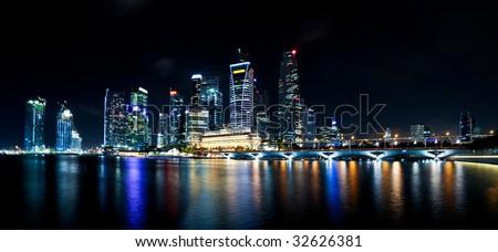 Singapore CBD at night