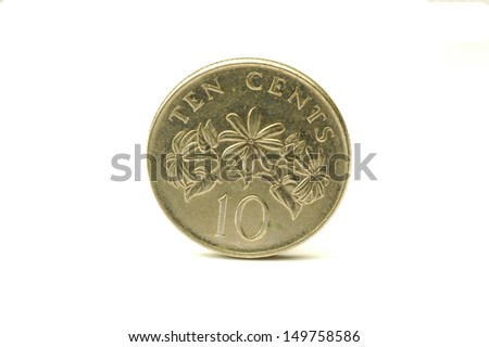 Singapore 10 cent coin