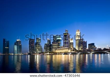 Singapore City skyline Feb 2010. #47301646