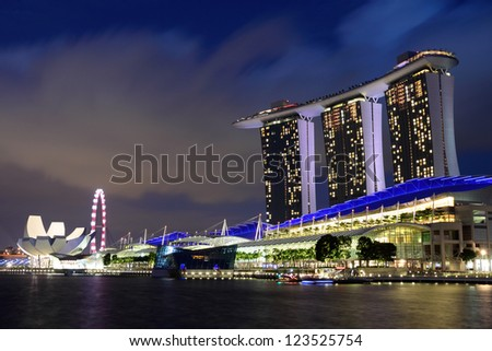 Singapore cityscape at night