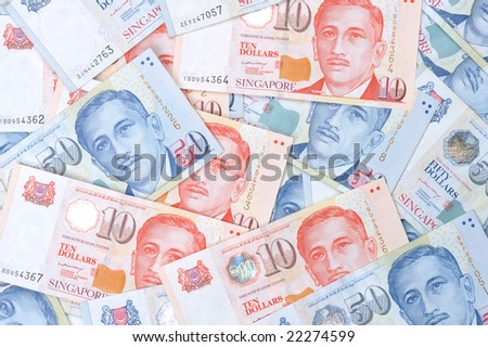 Singapore Dollar Picture on Dollar A Stack Of Singapore One Dollar Find Similar Images