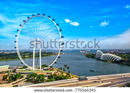 Singapore Ferris Wheel #770566345