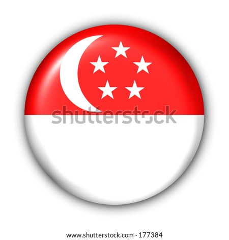 stock photo : Singapore Flag