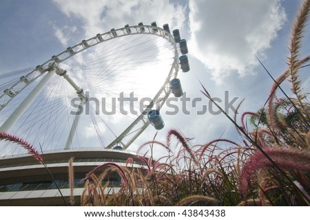 Singapore flyer, the largest ferris wheel in Asia