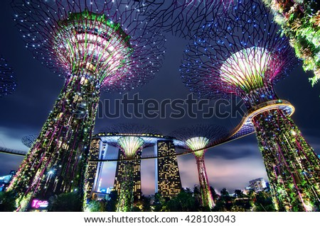 Singapore 22-12-2012, Garden by the bay light show #428103043