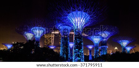 SINGAPORE- JAN 24: City life after New Year in 2016 on January 24, 2016 in Singapore #371795911