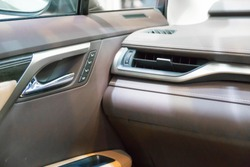 SINGAPORE - JANUARY 14, 2018: Door Panel and Aircond Ventilation from Lexus RX Turbo  RX200tat motorshow in Singapore.