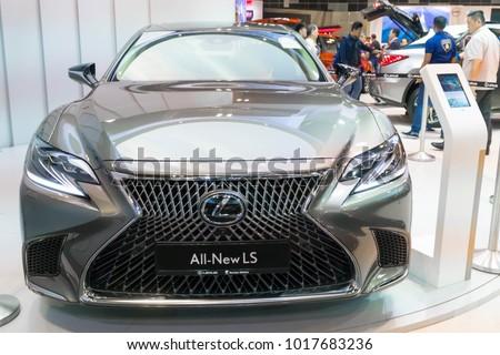 SINGAPORE - JANUARY 14, 2018: Lexus LS at motorshow in Singapore.