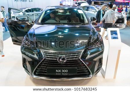 SINGAPORE - JANUARY 14, 2018: Lexus NX300 at motorshow in Singapore.