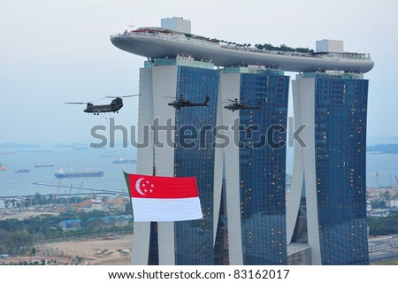 Singapore National Flag Picture on Singapore   July 09  Singapore National Flag Fly Past During National