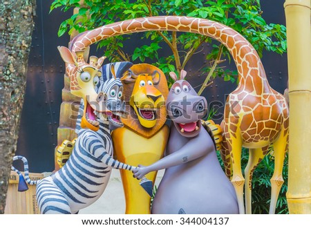 stock photo singapore july tourists and theme park visitors attraction in universal studios at 344004137 - Каталог — Фотообои «Для детской»