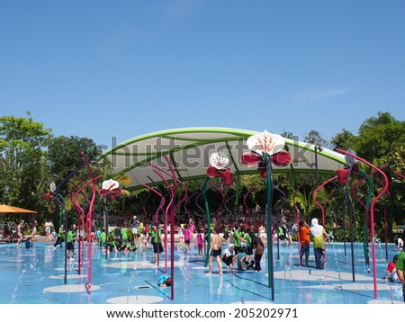 Garden By The Bay Water Park singapore - jun 20: children's garden at gardensthe bay in