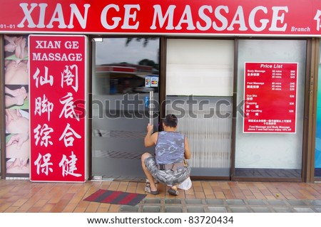 Singapore - June 23: Massage Parlour On June 23, 2011 In Singapore ...