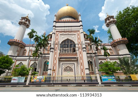 SINGAPORE - MAY 5: Masjid Sultan Mosque is one of the oldest Mosques in Kampong Glam - a Malay and Arab Settlement. May 5, 2011 in Singapore.