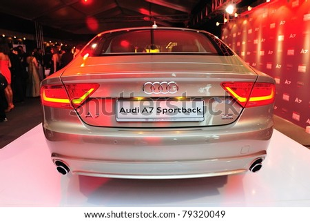 SINGAPORE - MAY 17: Newly launched Audi A7 at Audi Fashion Festival 2011 on May 17, 2011 in Singapore.