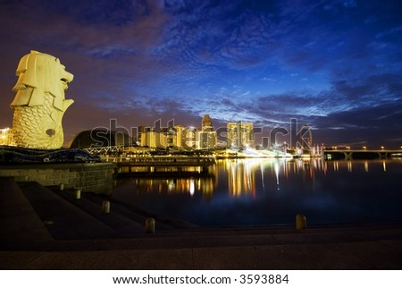 Merlion Singapore Picture on Singapore Merlion Stock Photo 3593884   Shutterstock
