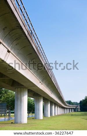 Singapore MRT railway - stock photo
