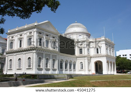 Singapore National Museum - beautiful colonial building. Old architecture.
