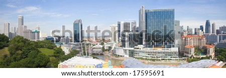 Singapore panorama - stock photo