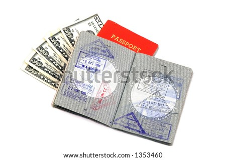 Singapore Passport Picture on Well Used Open Us Passport Us Passport Find Similar Images