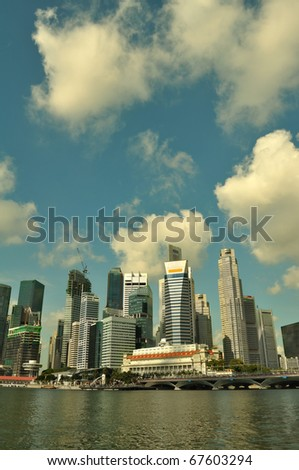 Singapore skyline and river during daytime