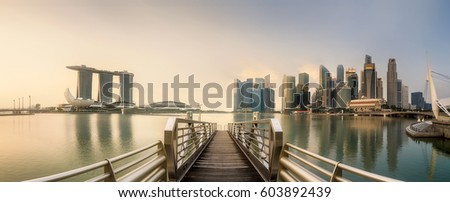 Singapore Skyline and view of skyscrapers on Marina Bay #603892439