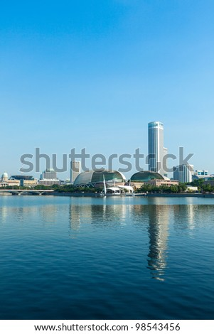Singapore skyline at Marina Bay in the day