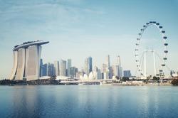 Singapore Skyline. Singapore`s business district.