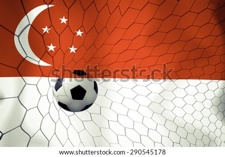 Singapore soccer ball Color Vintage #290545178