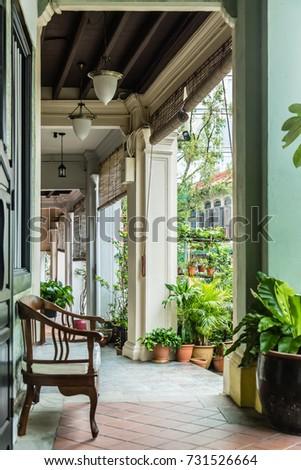 singapore vintage shop house...