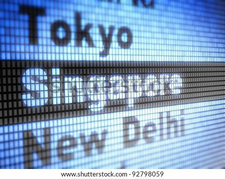 Singapore. World capitals  Full collection of icons like that is in my portfolio