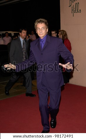 Singer BARRY MANILOW at pre-Grammy party given by Clive Davis of J Records at the Beverly Hills Hotel. 25FEB2002   Paul Smith / Featureflash