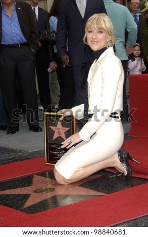 Singer CELINE DION on Hollywood Blvd where she was honored with the 2,244th star on the Hollywood Walk of Fame. January 6, 2004  Paul Smith / Featureflash