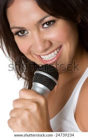 Singing Latina Woman