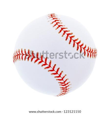 Single baseball, isolated on white