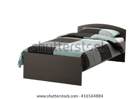 Single bed. Isolated on white. include clipping path