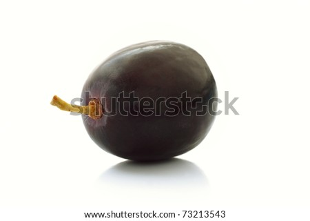 Single Black Grape On ...