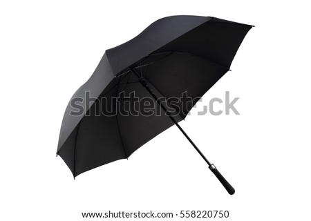 single black umbrella in white background #558220750