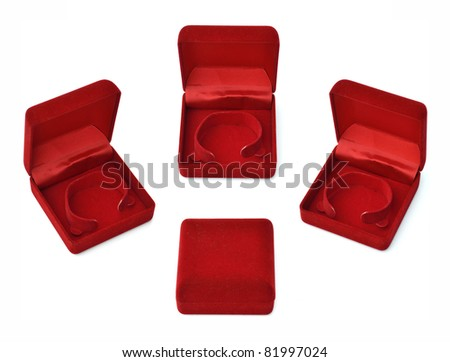 single blank red box isolated on white background.