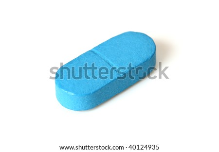 Round Blue Pill with a On It