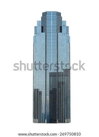 single business skyscraper isolated on white background.