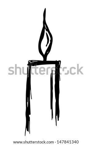 single candle silhouette